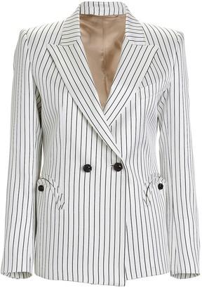 BLAZÉ MILANO Charmer Double-Breasted Pinstripe Blazer