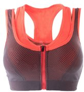 Cliont Women's High Impact Front Zip Sports Bra Comfort Running Jogging Yoga Bras