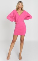 Showpo Midnight Confessions Knit Dress in hot pink - 8 (S) Jumpers &