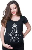 Silk Road Tees We are hoping it's a puppy maternity pregnancy t-shirt