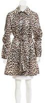 Veronica Beard Leopard Print Trench Coat