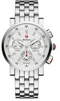 Michele Sport Sail 18 Diamond & Stainless Steel Chronograph Bracelet Watch