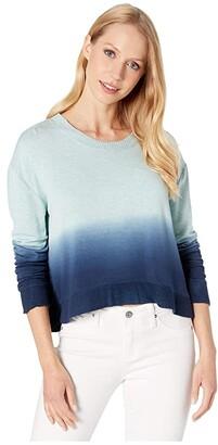 Splendid Plunge Pullover (Light Teal Heather Dip-Dye) Women's Clothing