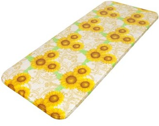 """Carnation Home Fashions Sunflowers"""" 48"""" x 72"""" Fitted Vinyl Tablecloth"""