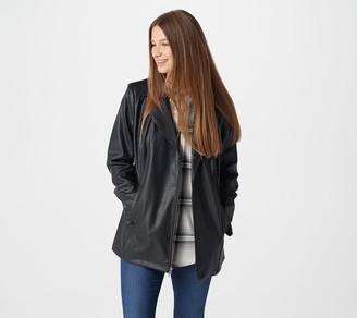 Denim & Co. Studio by Faux Leather Long Moto Jacket