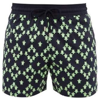 Vilebrequin Moorise Turtle Print Swim Shorts - Mens - Green Navy