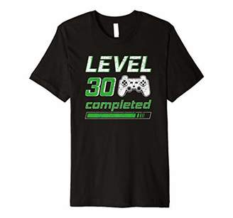 Level 30 completed video games 30th birthday gamer gift Premium T-Shirt