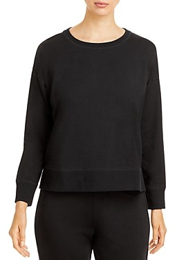 Eileen Fisher Long-Sleeve Crewneck Top