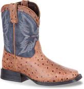 Durango Ostrich Embossed Toddler Cowboy Boot - Boy's