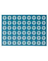 Kim Seybert Teal/Gray Grid Placemat