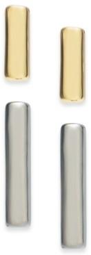 Alfani Two-Tone 2-Pc. Set Bar Stud Earrings, Created for Macy's