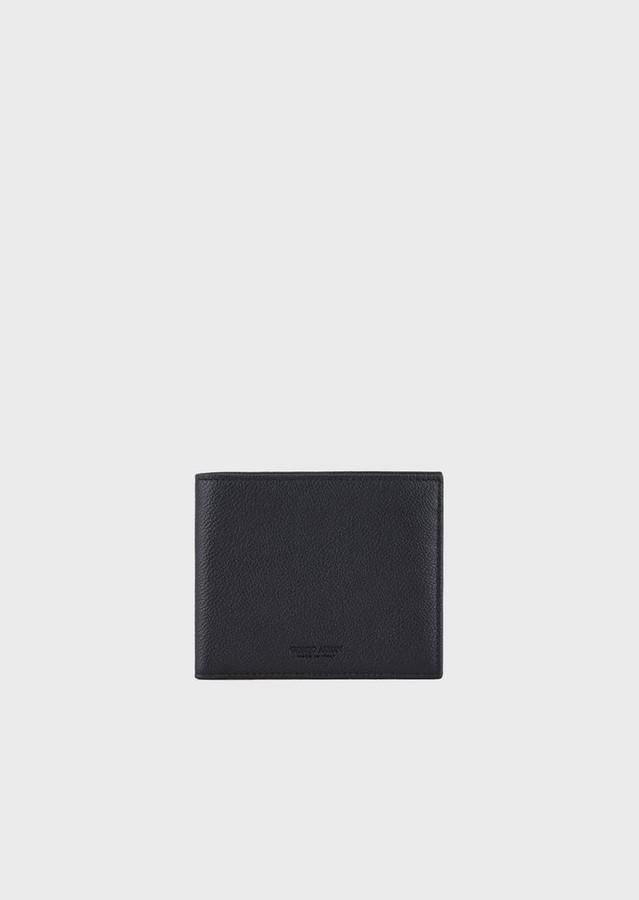 Giorgio Armani Wallet In Hammered Calfskin