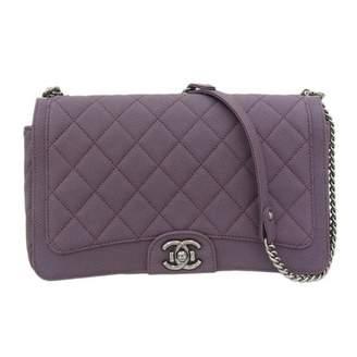 Chanel Boy Purple Leather Handbags