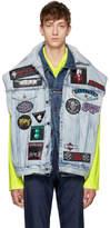 Vetements Blue Levis Edition Denim Trash Metal Double Vest