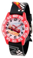 Thumbnail for your product : EWatchFactory Disney Cars 3 Lightning McQueen Boys' Red Plastic Time Teacher Watch