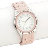 Xhilaration Women's Silicone Strap Watch Blush