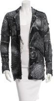 Avant Toi Crochet-Embellished Open Front Jacket