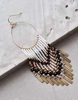 American Eagle Outfitters AE Seed Bead Circle Hoop Earring