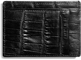 Shinola Men's Alligator Leather Card Case - Black