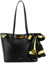 DKNY large shopper bag with scarf detail