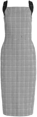 Max Mara Fucino Sleeveless Plaid Midi Dress