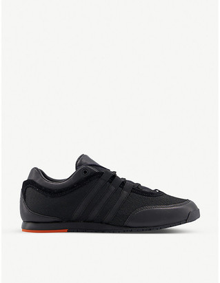 Adidas Y3 Y-3 Boxing mesh and leather low-top trainers