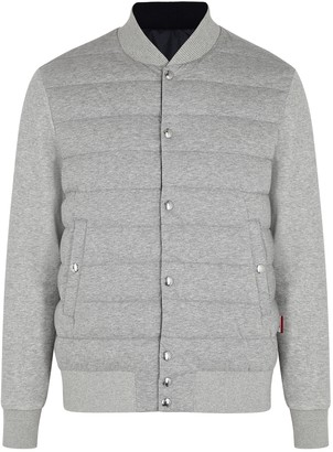 Moncler Grey Reversible Cotton And Shell Jacket