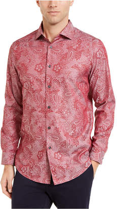 Tasso Elba Men Jacquard Paisley Shirt