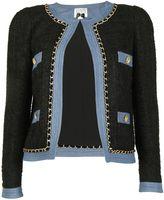 Edward Achour Paris Short Jacket Black-denim