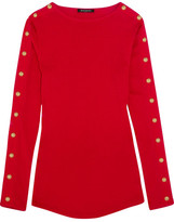 Balmain Embellished Cotton-jersey Top - Red