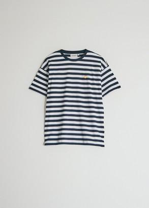 Carhartt WIP Women's Short Sleeve Scotty T-Shirt in Scotty Stripe/Dark Navy/White, Size Small | 100% Cotton