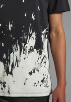 McQ by Alexander McQueen EG Battlefield Dropped Shoulder Tee in Black/Off White
