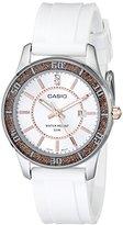 Casio Women's LTP1358-4A2V Silver-Tone Glitter-Bezel Watch