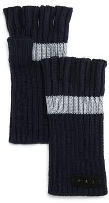 John Varvatos Striped Fingerless Gloves