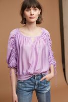 Maeve Calluna Tied Blouse, Purple