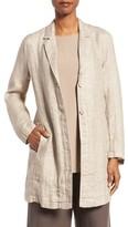Eileen Fisher Women's Organic Linen Notch Collar Jacket