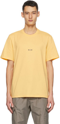 MSGM Yellow Micro Logo T-Shirt