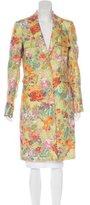 Etro Floral Print Linen Coat