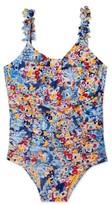 Hula Star Girl's 'Heavy Petal' One-Piece Swimsuit