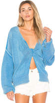 Wildfox Couture Solid Sweater in Blue