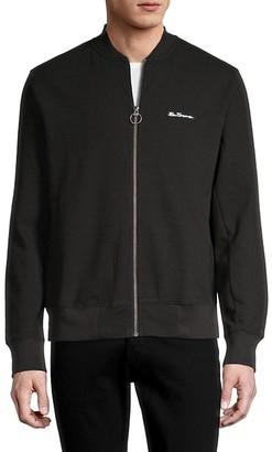 Ben Sherman Zip-Front Cotton-Blend Jacket