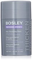 Bosley Professional Strength Hair Thickening Fibers, Black, 0.42 Ounce