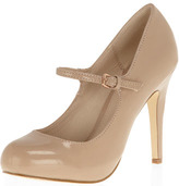 Dorothy Perkins Nude bar strap courts