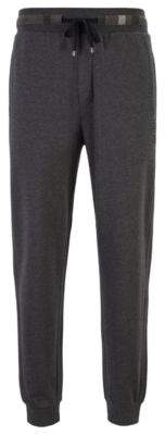 BOSS Drawstring loungewear trousers in French cotton terry