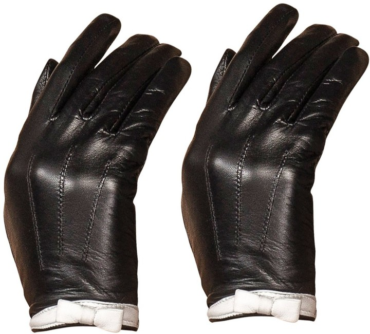 Luxury Fashion Womens GENUINE LEATHER Driving Spring  and Summer Gloves Black