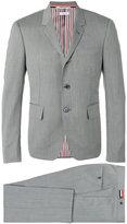 Thom Browne single breasted suit - men - Cupro/Wool - 3