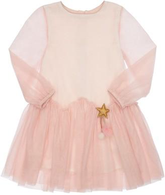 Billieblush Mesh Dress W/ Star Patch