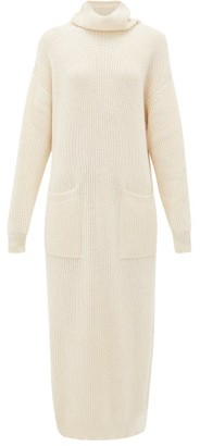 Mara Hoffman Elsa Roll-neck Cotton Sweater Dress - Womens - Cream