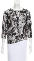 Erdem Printed Silk Top