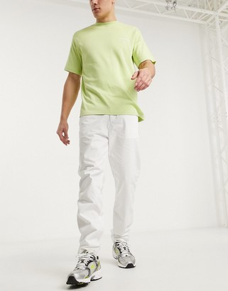 Mennace cargo utility pants in white